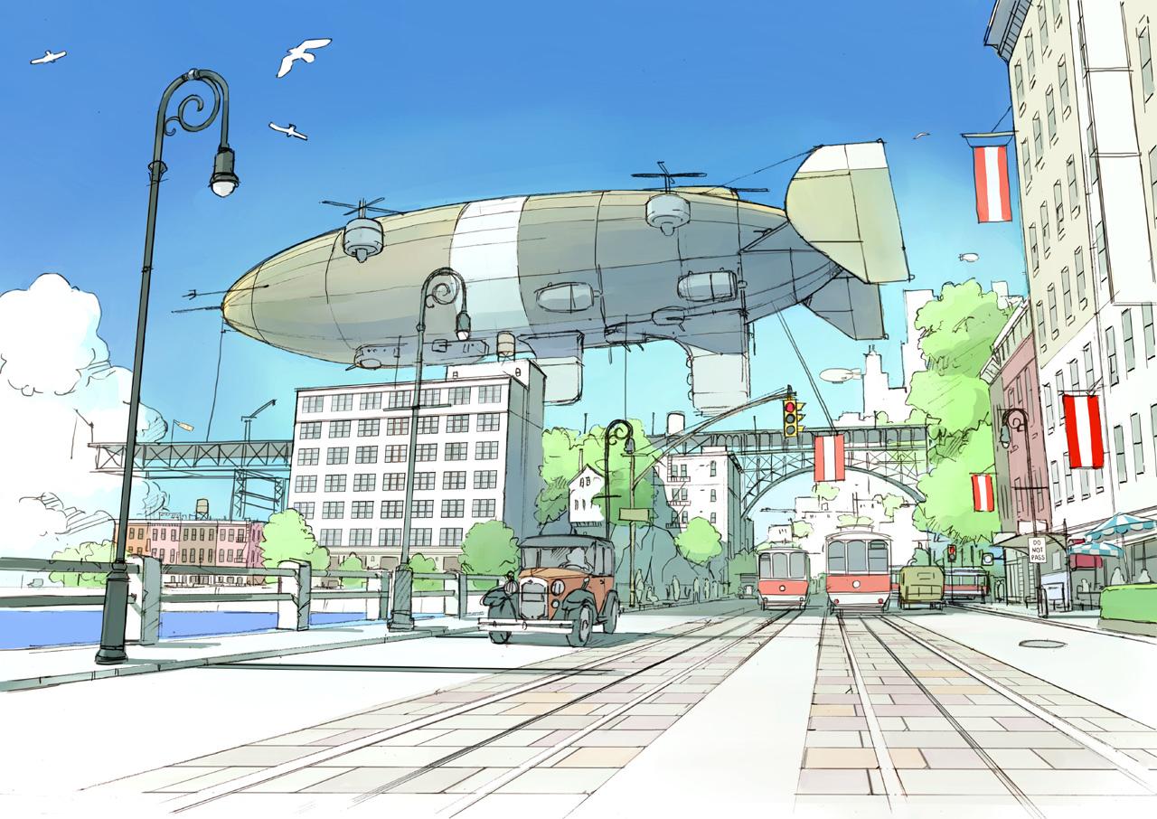 飛行船の街