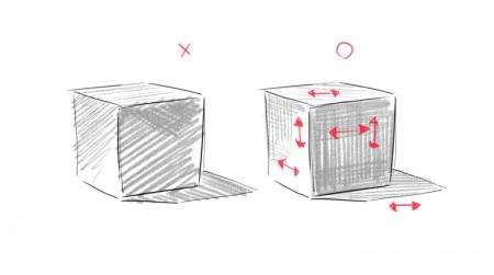 立方体のハッチング